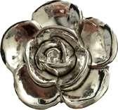 Petra's Sieradenwereld - Broche bloem zilverkleurig