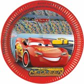Disney Cars bordjes 8 stuks - wegwerpbordjes