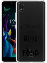 LG K20 Hoesje Mood for Food Black