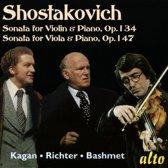 Shostakovich: Sonata for violin and piano; Sonata for viola and piano