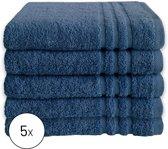Byrklund Set Blauw - 5x Handdoek 50x100cm