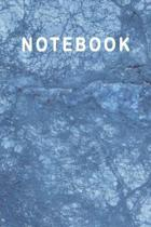 Notebook: Beautiful Blue Marble Notebook - Marble & Gold Journal - 110 College-ruled Pages - 6 x 9 Size (Marble and Gold Collect