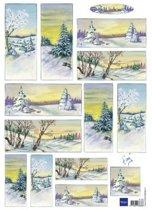 Hobby wenskaartenpakket - Marianne Design decoupage x1 Tiny's winter world 1 - 10 stuk