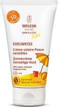 Weleda Edelweiss Zonnecrème gevoelige huid baby en kids spf50