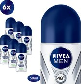 NIVEA MEN Sensitive Protect Deodorant Roller - 6 x 50 ml - Voordeelverpakking