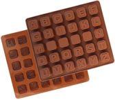 Letter pralines vorm - Vormpjes voor chocolade - snoep - Alfabet mal