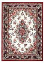 Klassiek tapijt medaillon bordeaux en crème - 160 x 225 cm