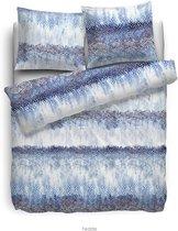 HnL Living Fedde - Dekbedovertrek - Katoensatijn - Tweepersoons - 200 x 200/220 - Blauw