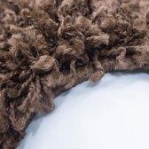Hoogpolig shaggy vloerkleed 200x290cm bruin