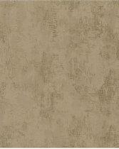 Nabucco uni goud behang (vliesbehang, goud)