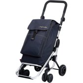 Playmarket Boodschappentrolley Go Up Jeans 4 wielen - 40 L Inhoud - inklapbaar - Extra vriesvak