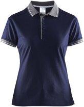 Craft Noble Polo Pique Shirt Wmn Marineblauw/Donkergrijs maat XS