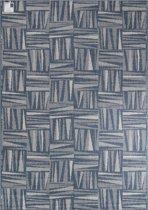 In- & Outdoor Dubbelzijdig Vloerkleed - 120X170 cm - Blauw/Cream