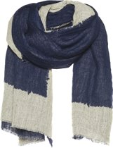 Amor Collections - Sjaal - Boiled wol - Navy Blauw - 100x200 cm