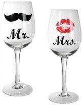 Mr & Mrs wijnglazen - 22,5 cm