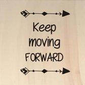 Houten ansichtkaart 15x15cm Keep moving forward - 107025012016