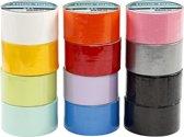 Duck tape b: 48 mm diverse kleuren 12x5m
