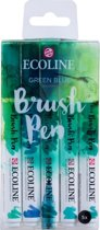 "Talens Ecoline 5 brush pens ""Green Blue"""