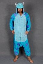 KIMU Onesie Sulley pak Monsters Inc. blauwe draak kostuum - maat L-XL - drakenpak jumpsuit huispak festival