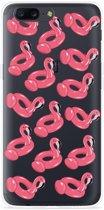 OnePlus 5 Hoesje Inflatable Flamingos