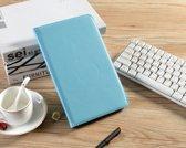 H.K. Draaibaar/Boekhoesje hoesje lichtblauw geschikt voor Samsung Galaxy Tab A 2019 (T510) + Glasfolie en stylus pen