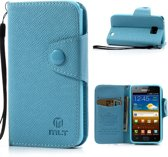 Samsung Galaxy S2 i9100 MLT Wallet Stand Case Hoesje Blauw