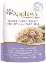 Applaws cat jelly chicken / liver kattenvoer 70 gr