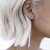 T-Bar oorbellen / zilverkleurige staafjes oorbellen / Bar oorknoppen
