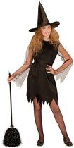 Heks & Spider Lady & Voodoo & Duistere Religie Kostuum | Heks | Meisje | Maat 140 | Halloween | Verkleedkleding