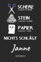 Nichts schl gt - Janne - Notizbuch