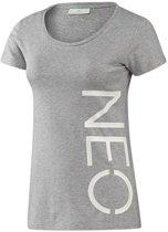 Adidas Neo Logo T-shirt Dames Grijs Maat Xs