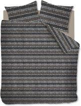 Ambiante Striped Knit - Dekbedovertrek - eenpersoons - 140x200/220 - Antraciet