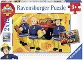 Ravensburger Brandweerman Sam aan het werk- Twee puzzels van 12 stukjes - kinderpuzzel