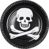 48 stuks: Set a 6 Bordjes - Piraat - 23cm