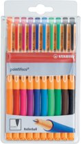 4x Stabilo roller Point Visco etui van 10 stuks (oranje, rood, roze, lila, donkerblauw, lichtblauw, groen...