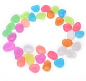 50x Leuke Pebbles aquarium stenen Glow in the dark | Multicolor | decoratie