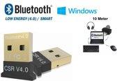 DrPhone B1 - Mini Bluetooth 4.0 USB Adapter Dongle - Tot 10 Meter Bereik - Ondersteunt BLE Geschikt voor o.a. Muis / Toetsenbord / Koptelefoon / Laptop / PC / Sluit o.a. een Apple keyboard op Windows etc  - Voor Windows Devices + NL Handleiding