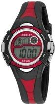 Nowley 8-6145-0-1 digitaal horloge 36 mm 100 meter zwart/ rood