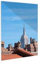 FotoCadeau.nl - Manhattan stadsbeeld Glas 40x60 cm - Foto print op Glas (Plexiglas wanddecoratie)