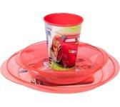 lunchset Cars 3 magnetronbestendig 3-delig rood
