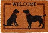 Kokosmat Welcome opdruk honden - 40 x 60 cm