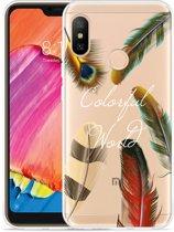 Xiaomi Redmi 6 Pro Hoesje Feathers World
