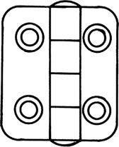 Talamex Offset scharnieren rvs 63,5X38,5X2mm