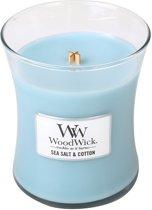 Woodwick Medium Candle Sea Salt and Cotton