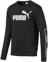 PUMA Amplified Crew FL Trui Heren - Puma Black - Maat XL