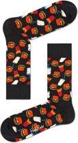 Happy Socks Hamburger Sokken Zwart, Maat 41/46