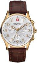 Swiss Military Hanowa 06-4187.02.001 horloge heren - bruin - edelstaal doubl�