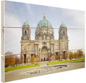 Dom van berlijn bij dag Hout 60x40 cm - Foto print op Hout (Wanddecoratie)