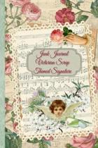 Junk Journal Victorian Scrap Themed Signature: Full color 6 x 9 slim Paperback with extra embellishments to cut out and paste in - no sewing needed!