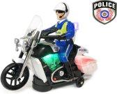 Politie motor met led flash light en politie geluiden - Police 20CM (inclusief batterijen